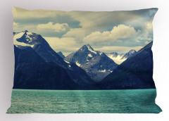 Karlı Dağlar Manzaralı Yastık Kılıfı Doğada Huzur