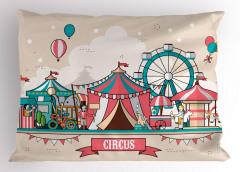 Eğlenceli Yastık Kılıfı Rengarenk Sirk Desenli