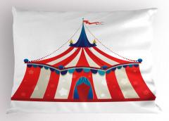 Sirk Çadırı Yastık Kılıfı Kırmızı ve Beyaz