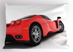 Kırmızı Yarış Arabası Temalı Yastık Kılıfı Spor