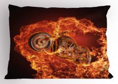 Motosiklet Tutkunlarına Özel Yastık Kılıfı Kırmızı