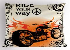 Ruhu Özgür Olanlara Özel Yastık Kılıfı Motosiklet