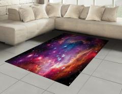 Samanyolu Galaksisi Halı (Kilim) Kozmos Uzay