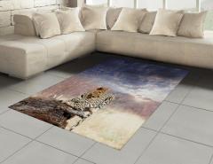 Leopar ve Gökyüzü Halı (Kilim) Huzur Verici