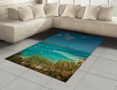 Egzotik Deniz Yelkenli Halı (Kilim) Doğa