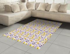 Sulu Boya Etkili Halı (Kilim) Çiçek Desenli Çeyizlik