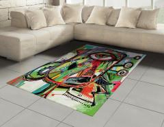 Sanat Eseri Temalı Halı (Kilim) Rengarenk Şık Tasarım