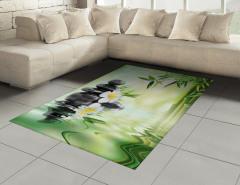 Masaj Severler İçin Halı (Kilim) Çiçek Su Taş SPA