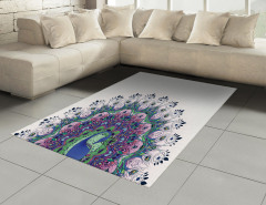Rengarenk Tavus Kuşu Halı (Kilim) Şık Tasarım