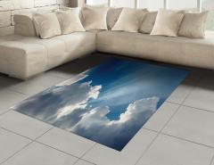 Gökyüzü Temalı Halı (Kilim) Mavi Bulut Güneş