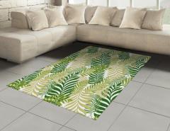 Yaprak Desenli Halı (Kilim) Yeşil Çeyizlik Şık