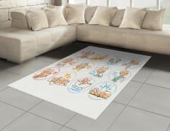 Burç Haritası Halı (Kilim) Bebek Astroloji
