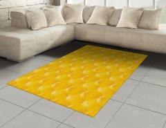 Sarı Dekoratif Desenli Halı (Kilim) Şık Tasarım