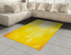 Sarı Arka Planlı Halı (Kilim) Dekoratif Şık