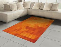 Üçgen Desenli Halı (Kilim) Mozaik Görünümlü Retro Stil