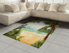 Doğal Bir Cennet Halı (Kilim) Kumsalda Dalgalar