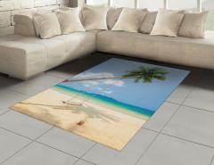 Issız Ada Halı (Kilim) Tropikal Egzotik Mavi