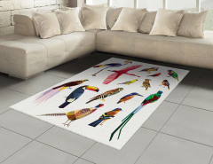 Rengarenk Kuşlar Temalı Halı (Kilim) Çeyizlik