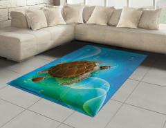Deniz Kaplumbağası Halı (Kilim) Mavi