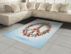 Rengarenk Kalp Desenli Halı (Kilim) Barış Şık