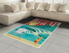 Egzotik Tatil Halı (Kilim) Okyanus Sörf Egzotik Tatil