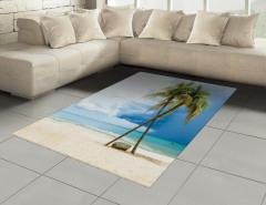 Tropik Kumsal Halı (Kilim) Kumsal Mavi Yeşil