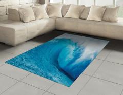 Okyanus Dalgaları Halı (Kilim) Okyanus Dalgaları Sörf Mavi