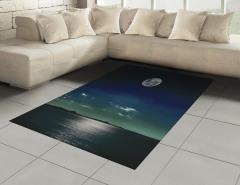 Ay Işığında Deniz Halı (Kilim) Siyah