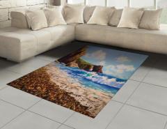 Deniz Kıyısı Desenli Halı (Kilim) Deniz Kıyısı