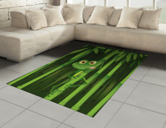 Bambu ve Kurbağa Halı (Kilim) Yeşil