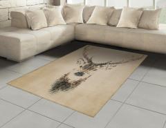 Geyik Figürlü Halı (Kilim) Geyik figürü Modern Sanat