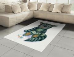 Sevimli Kedi Desenli Halı (Kilim) Sevimli Kedi Desenli