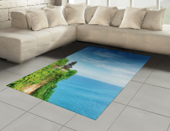 Cennet Tapınağı Temalı Halı (Kilim) Mavi Deniz