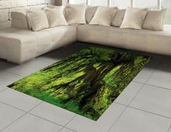 Yağmur Ormanı Temalı Halı (Kilim) Doğa Ağaç
