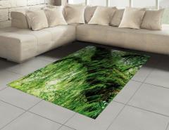 Orman Manzaralı Halı (Kilim) Yeşil Ağaç Doğa