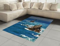 Okyanustaki Yelkenli Halı (Kilim) Okyanus Yelkenli