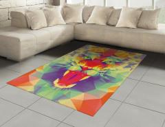 Rengarenk Kaplan Figürü Halı (Kilim) Kaplan Figürü Modern Sanat