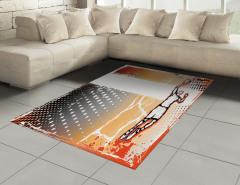 Basketbol Sevdası Halı (Kilim) Karakalem Poster Etkili