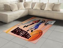Basketbol Maçı Halı (Kilim) Nostaljik Poster Etkili
