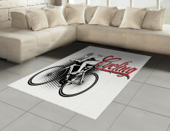 Bisiklet Aşkı Halı (Kilim) Bisiklet Siyah Kırmızı