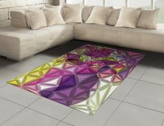 Rengarenk Geometrik Halı (Kilim) Dekoratif