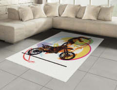Motosiklet Sevenlere Özel Halı (Kilim) Akrobat Sarı