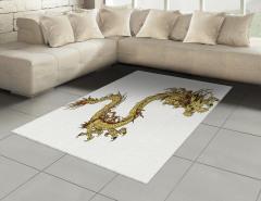 Altın Ejderhalı Halı (Kilim) Mitolojik Simge