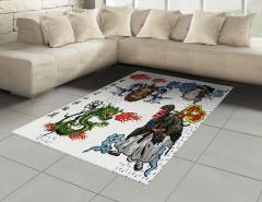 Mitolojik Japon Sembolleri Halı (Kilim) Mitolojik Semboller