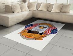 Amerikan Kartalı Halı (Kilim) ABD Bayrağı Şık