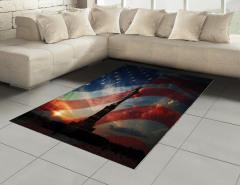 Özgürlük Anıtı ve Güneş Halı (Kilim) ABD Bayrağı