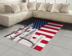 ABD Bayrağı Desenli Halı (Kilim) Özgürlük Anıtı