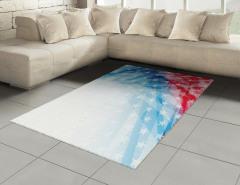 Yıldızlı ABD Bayrağı Halı (Kilim) Mavi Kırmızı