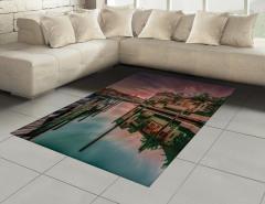 Venedik Kanalında Gün Doğumu Halı (Kilim)