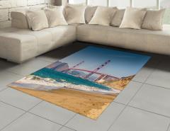 Kaliforniya Sahili Halı (Kilim) Kumsal Mavi